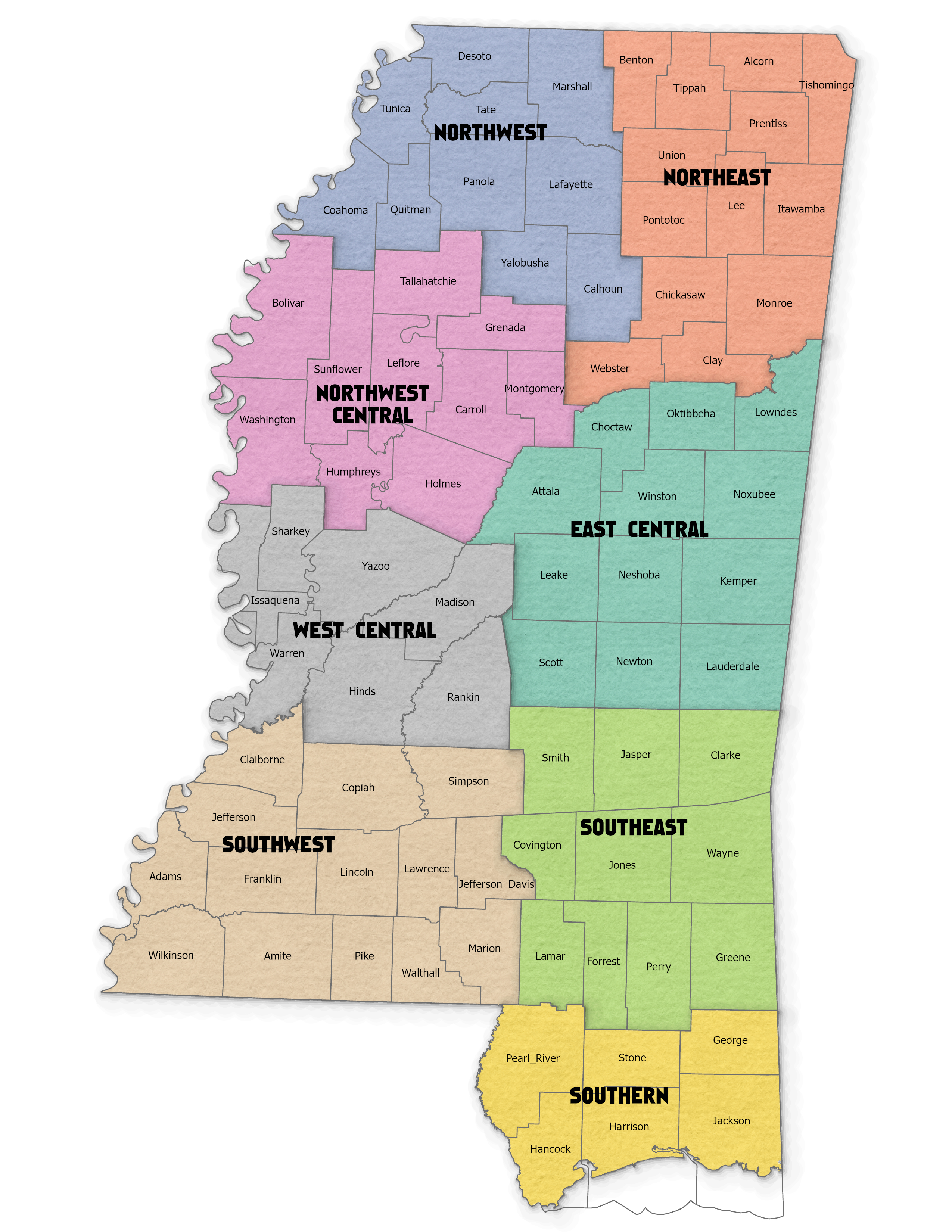 MFFA Districts Map